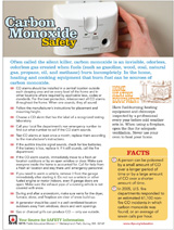 Carbon Monoxide informational flyer
